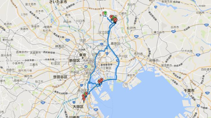 【2018年9回目】アテンザ給油毎の移動ログ(8/11)