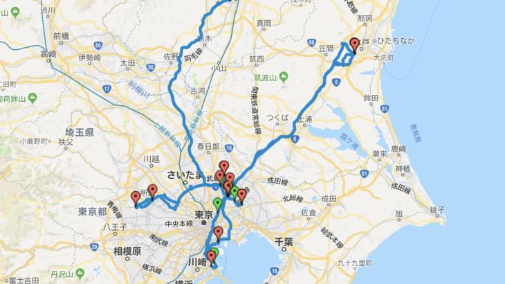 【2018年14回目】アテンザ給油毎の移動ログ(10/14)