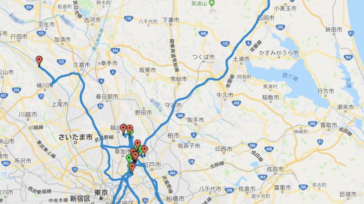 【2018年15回目】アテンザ給油毎の移動ログ(11/25)